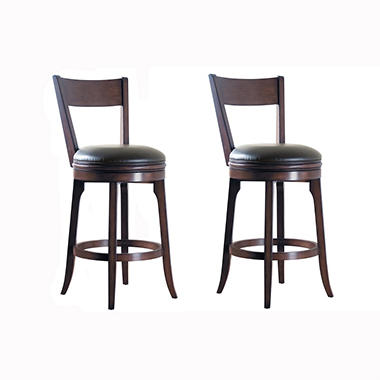 "Kinney 30"" Barstool with Walnut Finish - 2 pk."