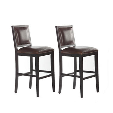 Butler Counter Height Stool - Bourbon Leather - 2 pk.