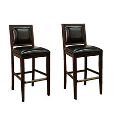 Butler Counter Height Stool - Toast Leather - 2 pk
