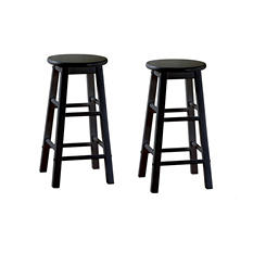 "Gilbert 24"" Black Counter Stool - 2 pk."