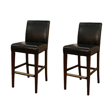 "Lyle 30"" Dark Brown Bonded Leather Barstool - 2 pk."