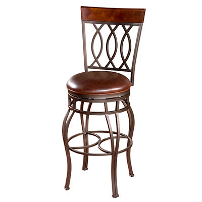 "Garrison 26"" Counter Stool with Merlot Color Seat"