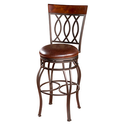 """Garrison 30"""" Barstool with Merlot Color Seat"""