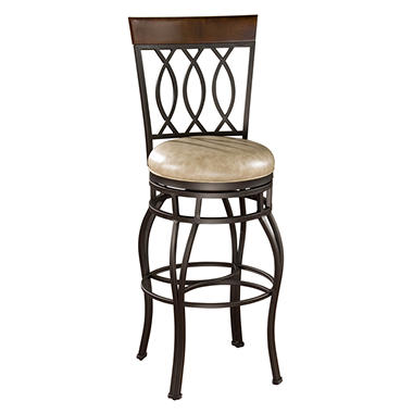"Garrison 30"" Barstool with Sand Color Seat"
