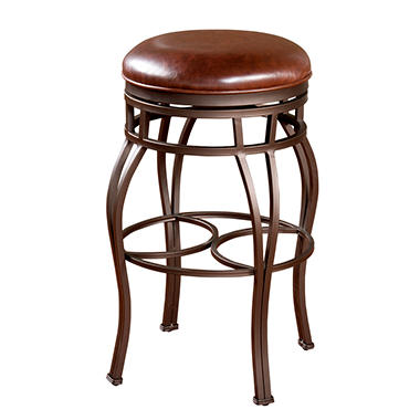 """Emily 26"""" Counter Stool with Merlot Seat"""
