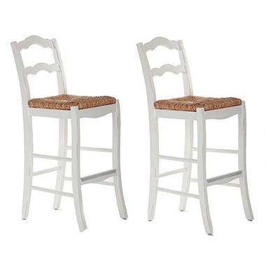 Plantation Bar Stool Antique White - 2 pk. .
