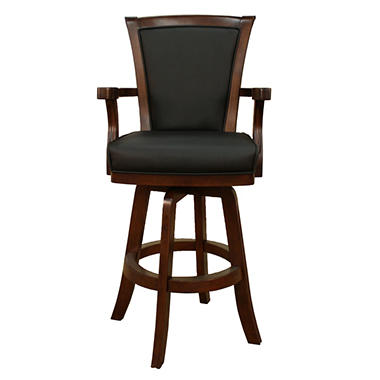 Chesterfield Walnut Finish Bar Stool   100619SD-S-L.2