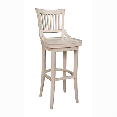 "Odin 34"" Antique White 360° Swivel Barstool"