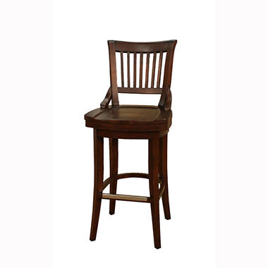 Odin 34 Quot Suede 360 176 Swivel Barstool Sam S Club