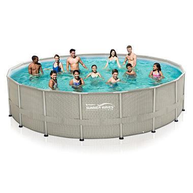 20 X 48 Quot Summer Waves Elite Frame Pool Set Sam S Club