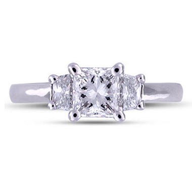 1.33 ct. t.w. Premier Diamond Collection Radiant & Trapezoid Cut Diamond Ring  (H, VS2)
