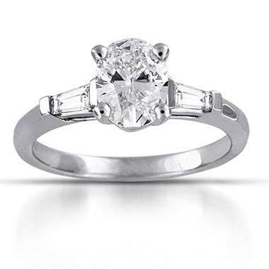 1.21 ct. t.w. Oval & Baguette Diamond Ring (F,SI1)