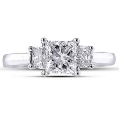 1.3 ct. t.w. Princess/Trapezoid Ring (H-I, SI1-SI2)