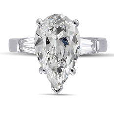 2.39 ct. t.w. Pear & Baguette Diamond Ring (E, SI1)