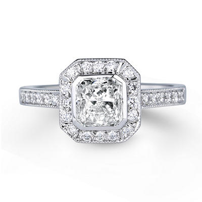 2.28 ct. t.w. Premier Diamond Collection Radiant & Pave Diamond Ring (H, SI1)
