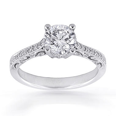 0.66 ct. t.w. Premier Diamond Collection Round & Pave Diamond Ring (F, VS2)