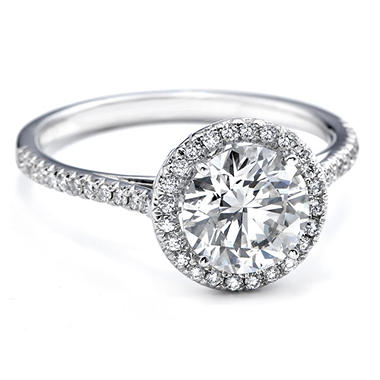 1.15 ct. t.w. Premier Diamond Collection Round & Pave' Diamond Ring in 18k White Gold (E, SI2)