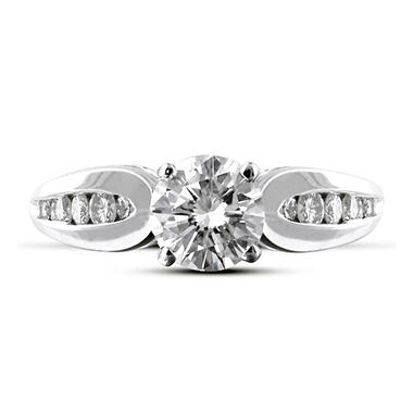 0.87 ct. t.w. Premier Diamond Collection Round Channel Set Diamond Ring in 14k White Gold (D, I1)