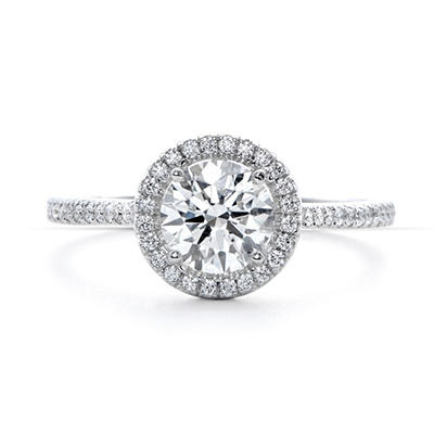 1.75 ct. t.w. Premier Diamond Collection Round & Pave' Diamond Ring in 18k White Gold (F, SI2)