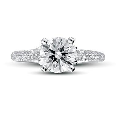 1.85 ct. t.w. Premier Diamond Collection Round & Pave Diamond Ring (H, SI1)