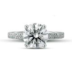 2.35 ct. t.w. Premier Diamond Collection Round & Pave Diamond Ring (H, SI2)