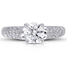 1.32 ct. t.w. Premier Diamond Collection Round & Pave Diamond Ring (G, SI1)