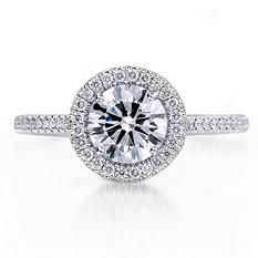 1.28 ct. t.w. Premier Diamond Collection Round & Pave Diamond Ring (I, SI1)