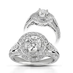 1.58 ct. t.w. Premier Diamond Collection Round & Pave Diamond Ring (G-H, I1)
