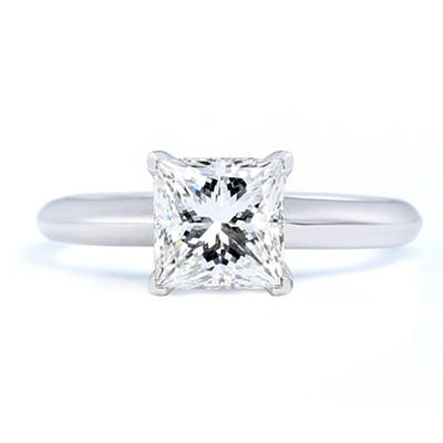 2.13 ct. Premier Diamond Collection Princess Diamond Solitaire Ring in Platinum (G, VS2)