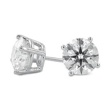 3.56 ct. t.w. Premier Diamond Collection 4-Prong Round Diamond Earrings in Platinum (F, I1)