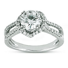 1.50 ct. t.w. Premier Diamond Collection Round & Pave Diamond Ring (H, SI2)