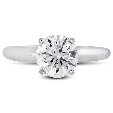 1.53 ct. Premier Diamond Collection Round Diamond Solitaire Ring 18k White Gold (G,VS2)