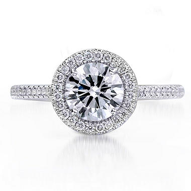 1.25 ct. t.w. Premier Diamond Collection Round & Pave Diamond Ring (I, SI1)