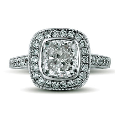 2.58 ct. t.w. Premier Diamond Collection Cushion & Pave Diamond Ring (G, SI1)