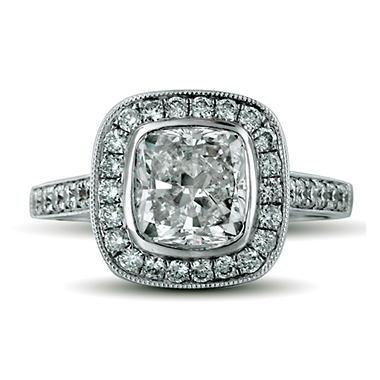 2.58 ct. t.w. Premier Diamond Collection Cushion & Pave Diamond Ring (G, SI1)