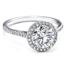 0.73 ct. t.w. Premier Diamond Collection Round & Pave' Diamond Ring in 18k White Gold (G, SI1)