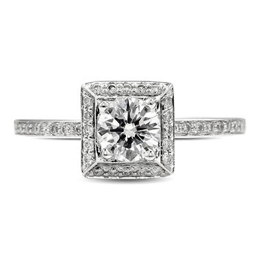 0.70 ct. t.w. Premier Diamond Collection Round & Pave Diamond Ring (E, SI1)