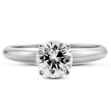 1.14 ct. Premier Diamond Collection Round Diamond Solitaire Ring (F, SI1)