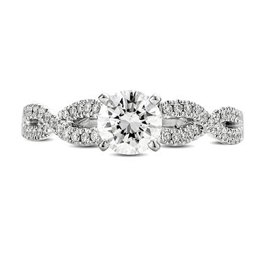 0.93 ct. t.w. Premier Diamond Collection Round & Pave' Diamond Ring (E, SI1)