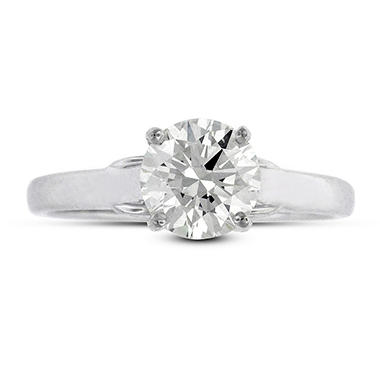 1.10 ct. t.w. Premier Diamond Collection Round Diamond Solitaire Ring in 14k White Gold (G, SI2)