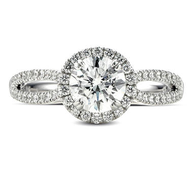 1.59 ct. t.w. Premier Diamond Collection Round & Pave' Diamond Ring in 14k White Gold (H, I1)