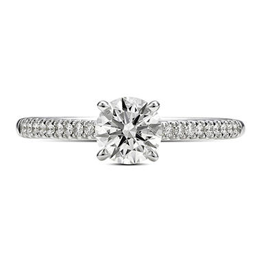 0.90 ct. t.w. Premier Diamond Collection Round & Pave' Diamond Ring (F, SI1)