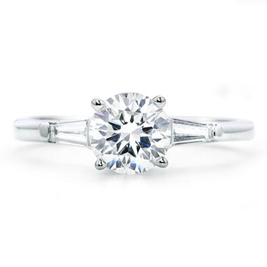 1.53 ct. t.w. Premier Diamond Collection Round + 2 Baguettes  Diamond Ring in 14k White Gold (G, SI2)