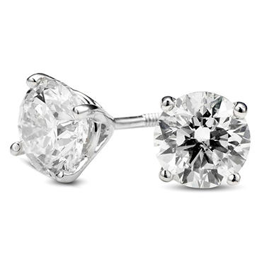 2.01 ct. t.w. Premier Diamond Collection 3-Prong Martini Round Diamond Earrings in Platinum (H-I, SI2-I1)