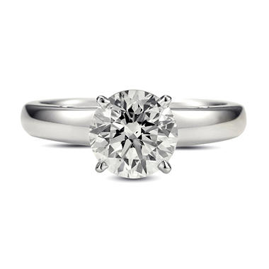 2.01 ct. Premier Diamond Collection Round Diamond Solitaire Ring in 18k White Gold (H, SI2)