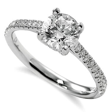 1.24 ct. t.w. Premier Diamond Collection Round & Pave Diamond Ring (I, SI2)
