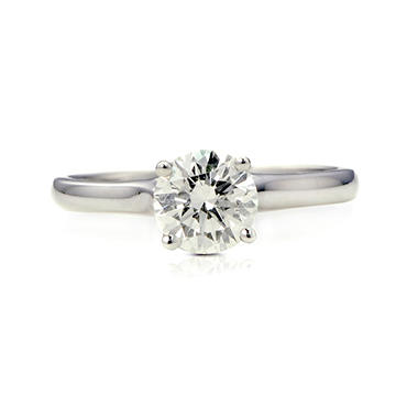 1.03 ct. t.w. Premier Diamond Collection Round Diamond Solitaire Ring + 2 Accent Diamonds in 14k White Gold (H, SI2)