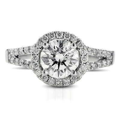 1.39 ct. t.w. Premier Diamond Collection Round and Pave' Diamond Ring in 18k White Gold (I, VS2)