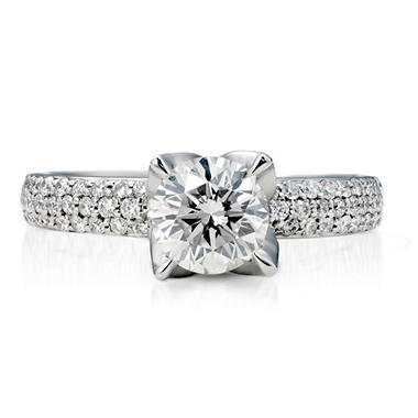 1.76 ct. t.w. Premier Diamond Collection Round and Pave' Diamond Ring in 14k White Gold (F, I1)