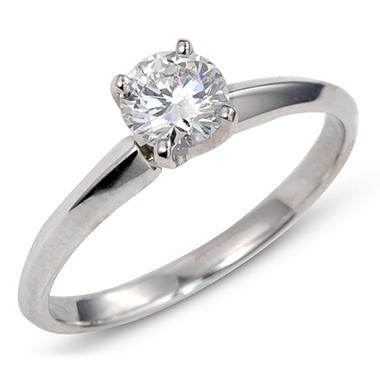 0.58 ct. Premier Diamond Collection Round Diamond Solitaire Ring in Platinum (E, VS1)